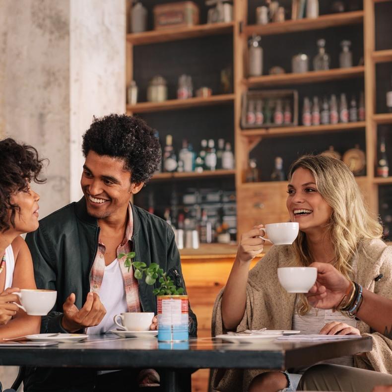 Korte en transparante koffieketen